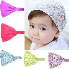 1.02$  Watch now - Hot 1Pc Baby Girls Children New Points Floral Printed Hairbands Headband Toddler Hair Accessories 6 Colors   #buyonline