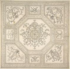Palladian Ceiling Design Anonymous, British, 18th century