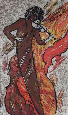 Batik Painting. Original Wax Painting. Painting of by OHankArt