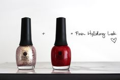 Fun, easy holiday nail polish. No stickers or gel required.