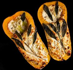 Naturally sweet cooked squash mixes with goat or blue cheese for a delicious, festive appetizer. Serve with crackers or bread. (this would also make a great vegetarian lunch!)