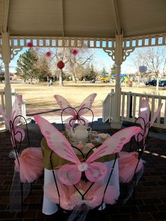 butterfli, tea parti, princess tea, fairi parti, fairies tea party birthday, wing chairs, parti idea, fairi tea, birthday ideas