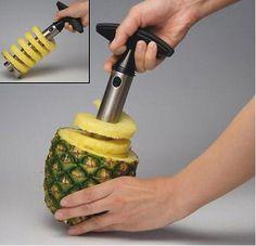 para sacar la pulpa de la piña y aprovechar su concha de envase para una rica piña colada!