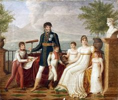 Guillaume Descamps, Portrait of Joachim Murat and his family in Naples, 1811.