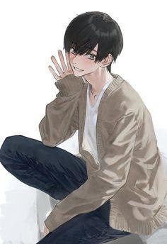 Drawing Anime Hands, Anime Drawings Sketches, Anime Couples Drawings, Cool Anime Guys, Cute Anime Boy, Anime Art Girl, Cute Boy Drawing, Guy Drawing, Islamic Cartoon
