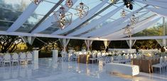 Glass Wedding Marquee Wedding Venue Wedding Decor White and gold wedding Gold Wedding, Rustic Wedding, Marquee Wedding Venues, Diy Wedding Decorations, Marina Bay Sands, South Africa, Travel, Events, Glass