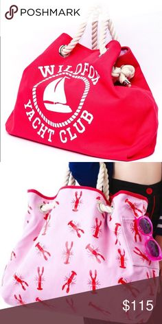 💖NEW ARRIVAL💖 WILDFOX⛱ Yacht Club Tote Adorable WILDFOX Yacht Club Reversible Tote. 100% Cotton. When Opened to Largest Size, Length is 23 Inches and Height is 17 Inches. Hardly Used, LIKE NEW. Buy the Matching Clutch and Make It a Set (And Receive 10% Off as Well!). Only Serious Offers Please! Wildfox Bags Totes