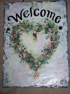 Paint To Use On Slate Welcome Signs