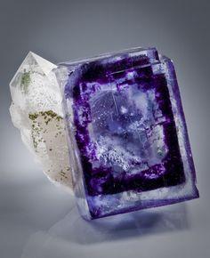 Fluorite, Quartz from Hunan Province, China