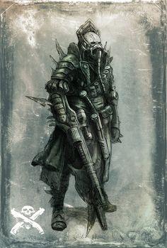 Warrior - Necromunda - Warhammer 40K - GW [by JohnMcCambridge]