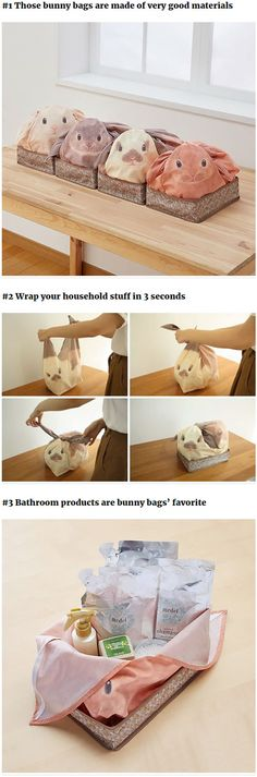 Bunny Bags That Can Overload More Cuteness To Your Household Stuff.