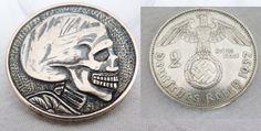 Hobo Nickel Silver Nazi Skull Hand Carved German Third Reich 2 Mark 1937 Coin   eBay resman