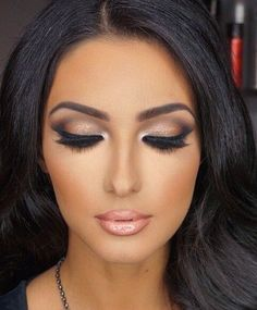 #makeup #smokey eyes on flawless skin. get rid of skin imperfections and fine lines with Organic Vitamin C Serum. www.MySkinsFriend.com