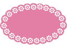 Printed Racerback Top - Pink & Wht Flowers by VIDA Original Artist Frame Template, Flower Template, Silhouette Cameo, Ballerina Barbie, Vintage Diy, Diy And Crafts, Paper Crafts, Cute Frames, Flower Circle
