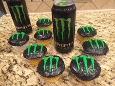 Both the cupcakes and the Frosting have energy drink in the ingredients.
