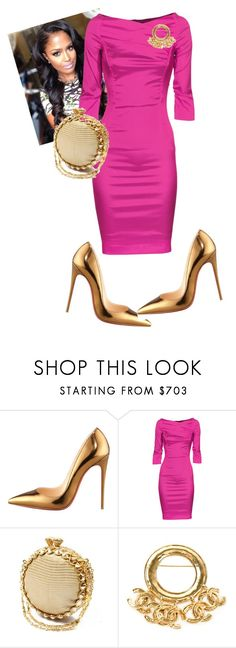 """""""Night Two!!!"""" by cogic-fashion ❤ liked on Polyvore featuring Christian Louboutin, THOMAS RATH and Chanel"""