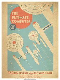 Episode 53: The Ultimate Computer - Original Star Trek Series Poster by artist Juan Ortiz
