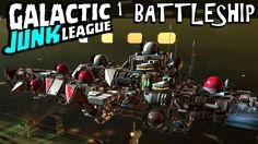 Galactic Junk League - First Look - Battleship Lazer Broadside!