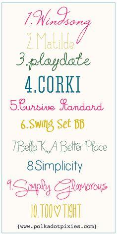 Polka Dot Pixies favorite fonts craft, polka dots, polka dot font, girly font, free font, dot pixi, birthday fonts, girly tattoo fonts, wedding fonts