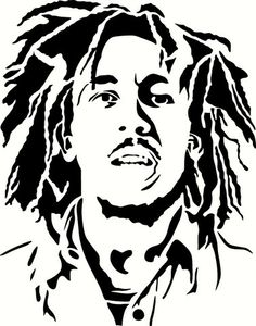 Young Bob Marley Vinyl Decal Graphic - Choose your Color and Size Skull Stencil, Stencil Graffiti, Stencil Art, Stencils, Stencil Templates, Bob Marley Tattoos, Bob Marley Kunst, Arte Bob Marley, Airbrush