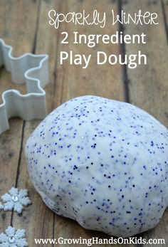 Sparkly winter two ingredient play dough recipe. Dough Recipe, Eggs, Winter, Recipes, Crafts, Food, Eten, Hoods, Handmade Crafts