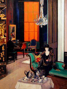 Interior: The Orange Blind, c. 1927 Francis C. B. Cadell