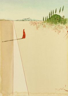 Salvador Dalí. Illustrations for Dante's Divine Comedy.
