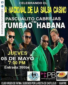 #Repost @saborarumbaymanana  Mañana los esperamos a partir de las 6:00 pm en nuestra sede para celebrar el día Nacional de la salsa casino en Venezuela nada más y nada menos que con Pascualito y su Tumbao Habana. Así que no se lo pueden perder. #ElBaileEsVida #SaborARumbaYManana #RumberosDeManana #SalsaCasinoVenezuela #SalsaCasino #Celebración #TumbaoHabana