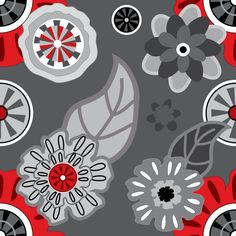 "Grafica di Erika Saetti: ""Flower Decoration"". #thecolorsoup #graphics #tessuti #textile #sea #pattern #fabric #flowers"