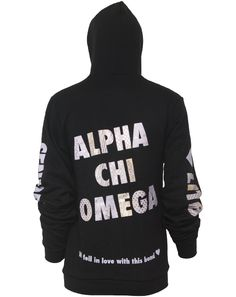 Alpha Chi Omega Hell yessss this is my chapters senior sweatshirt! Sorority Outfits, Sorority Life, Omega Bond, Alpha Apparel, Senior Sweatshirts, Greek Gear, Custom Greek Apparel, Alpha Chi Omega, Love Band