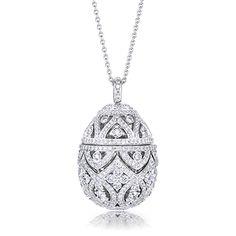 Faberge Zenya Diamond Egg Pendant