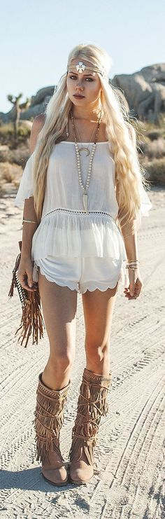 #boho #fashion - usa e abusa das franjas como neste look