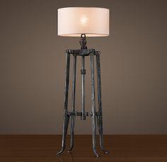 Belgian Industrial Mixer Floor Lamp   Lamp Design Ideas