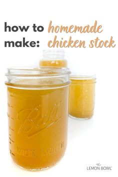 Make your own homemade chicken stock at home with this easy, step-by-step recipe tutorial! Great for soups, stews, braises and more. Lemon Bowl, Homemade Chicken Stock, Asian Soup, Pumpkin Soup, Healthy Soup Recipes, How To Make Homemade, Fabulous Foods, Cooking Light, How To Cook Chicken