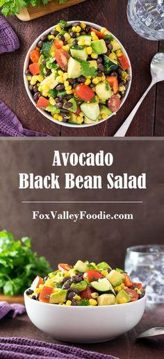 Avocado Black Bean Salad Recipe