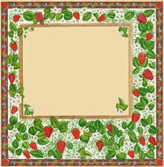 strawberry label /frame