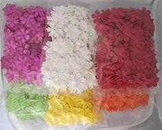 600 Mixed Color 25mm Artificial Mulberry Paper Rose Flower Wedding Scrapbook 2.0cm Diy Craft Scrapbook Pink Scrapbooking Bouquet Craft Stem Handmade Rose Valentines Anniversary Embellishment