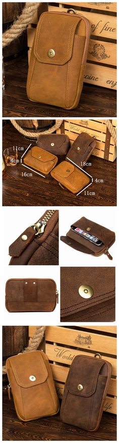 Leather Wallet, iPhone Wallet, Card Wallet, Long Wallet, Handmade Wallet MS082