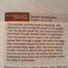 Israel's Destructive Cycle   #true #Gospel #one #road #grace #mercy #Bible #God #Jesus #Christ #holy #Scripture #worship #living #history #ancient #culture #modern #world #past #Christians #people #future #purpose #change #selfharm #Israel #cycle #habit