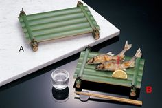 Bamboo Furniture, My Furniture, Bamboo Lamp, Chaat Recipe, Bamboo Design, Bamboo Crafts, Food Decoration, Food Presentation, Food Plating
