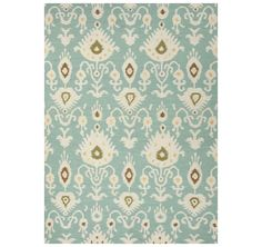 Aqua dhurrie rug from the Kellogg Collection | @kelloggfurn