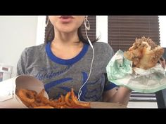 ASMR Eating Sounds- Arby's Roast Beef, Curly Fries, and Happy Birthday, Laura! Autonomous Sensory Meridian Response, Curly Fries, Roast Beef, Asmr, Personality, Happy Birthday, Youtube, French Fries Crisps, Happy Brithday