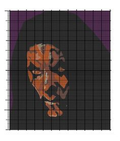 Darth Maul (Star Wars Epsd 1) cross stitch