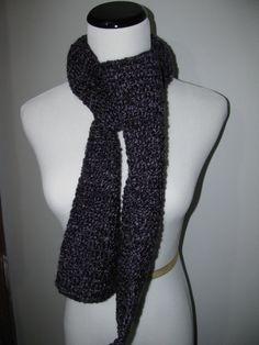 Crocheted Dark Multi-Purple Scarf by byBrendaS http://etsy.me/VpQBO2 via @Etsy