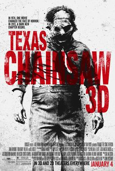 Texas Chainsaw 3D , starring Alexandra Daddario, Tania Raymonde, Scott Eastwood, Trey Songz. A young woman travels to Texas to collect an inheritance; little does she know that an encounter with a chainsaw-wielding killer is part of the reward. #Horror #Thriller