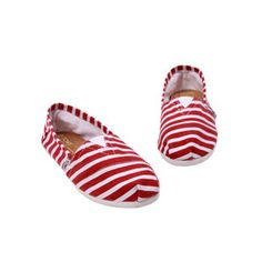 Toms Campus Girl Red Stripe Comfortable