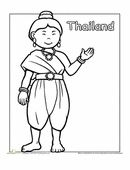 Worksheets: Thai Traditional Dress Coloring Page Make your world more colorful with free printable coloring pages from italks. Our free coloring pages for adults and kids. Dance Coloring Pages, Colouring Pages, Free Coloring, Coloring Pages For Kids, Coloring Sheets, Coloring Books, Around The World Theme, Kids Around The World, Thai Traditional Dress