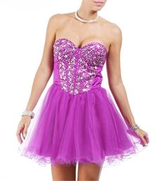 Kendell- Bright Violet Homecoming Dress