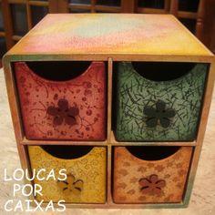 porta trecos com carimbos para artesanato - Loucas por caixas - Terra Fotolog
