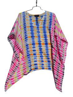 Silk charmeuse shibori ~ Caftan Tunic